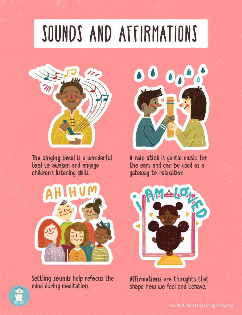 An example of Big World of Little Dude's curriculum. This graphic is called Sounds and Affirmations.