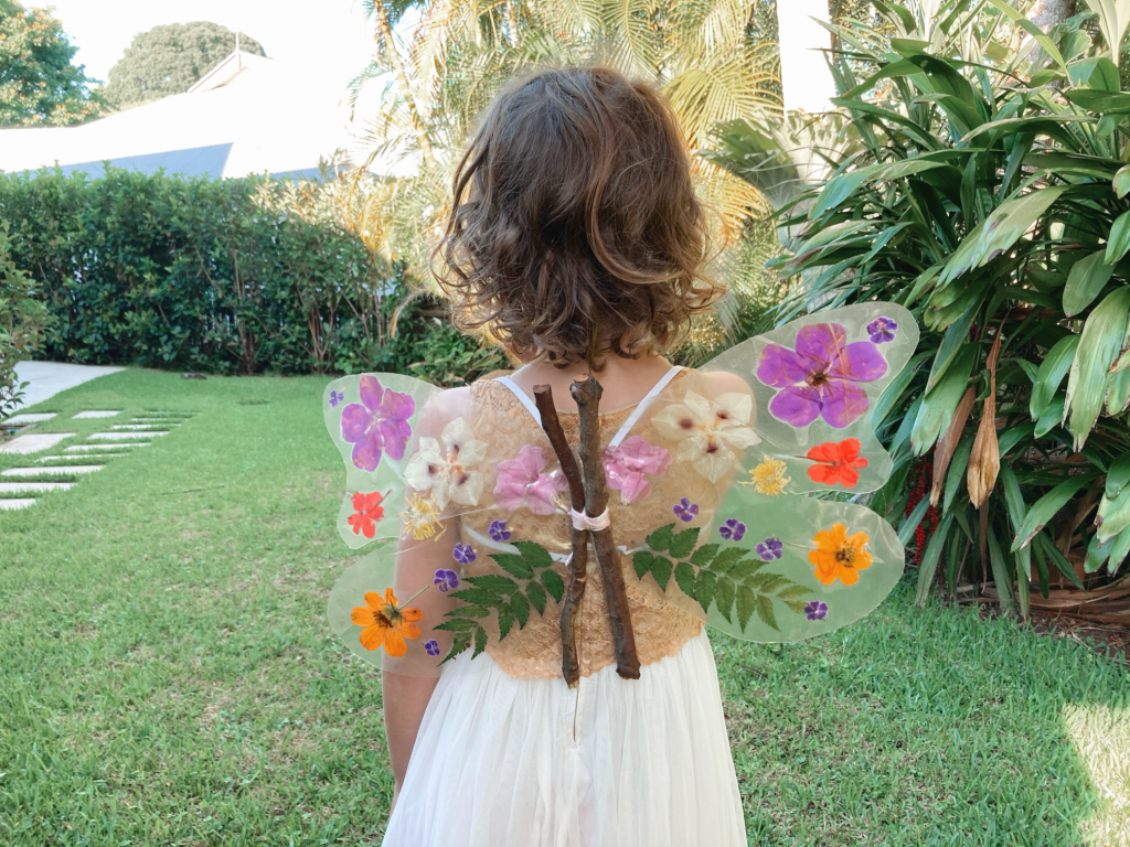 Butterfly wings craft project for children from Big World of Little Dude's curriculum.