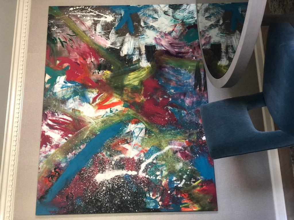 A photo of Amanda Arbeter's painting, Organized Chaos.
