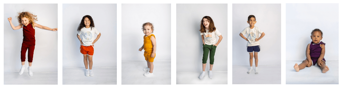 Six photos of children in Think Big Little People's