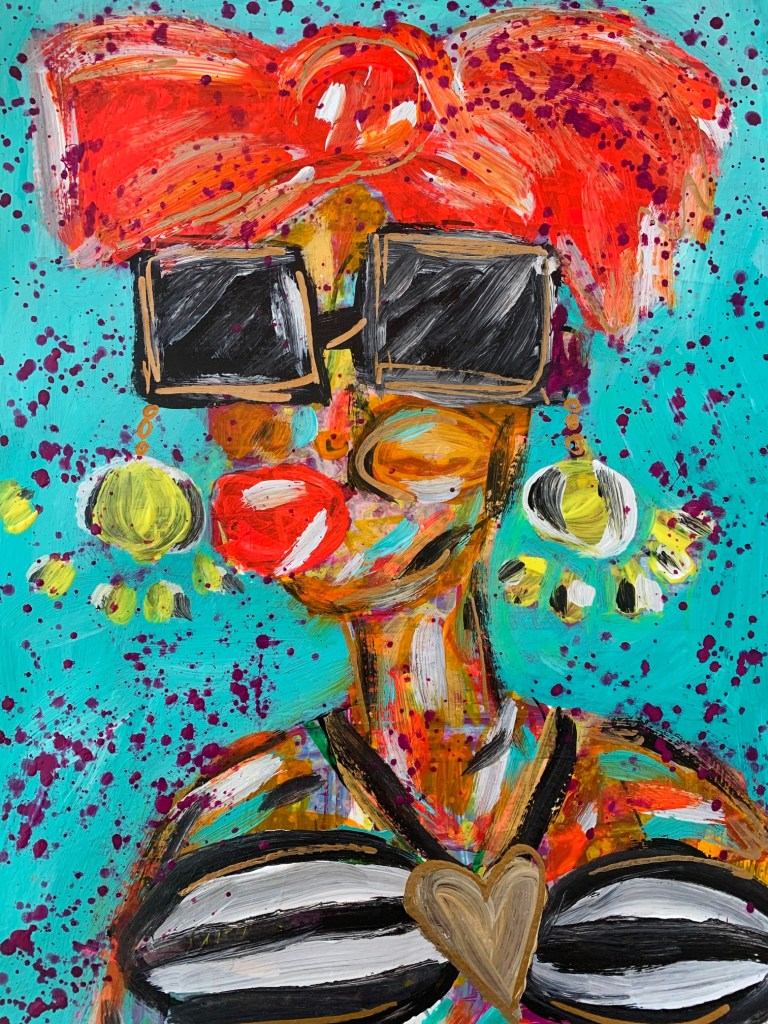 Acrylic painting of a woman by Jaclyn Altieri